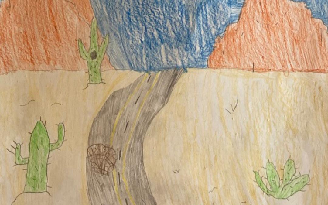 """Tumbling Through the Desert"" by Cruz M"